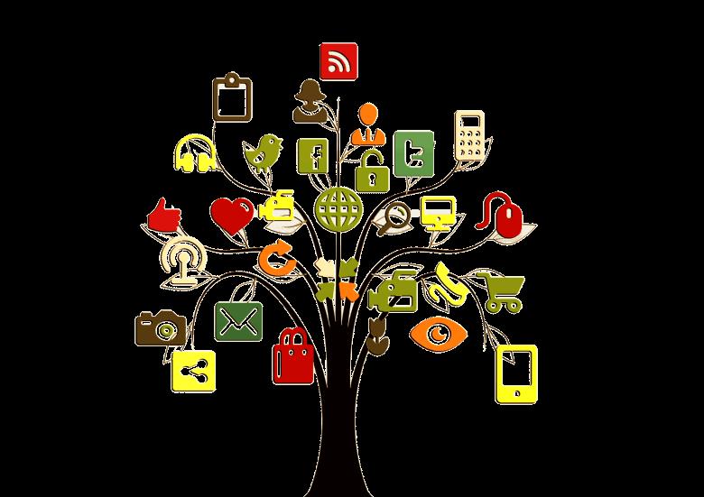コンテンツ・メディア・社会的メディアの種類